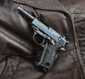 World War II German officers pistol. Stock Images