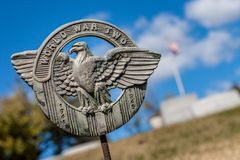 World War II Grave Marker stock photo