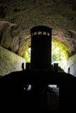 World war II Japanese landing barges in tunnels near Rabaul Royalty Free Stock Photo