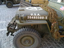 World War II jeep willy royalty free stock image