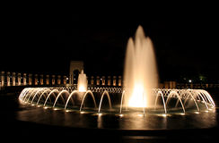 World War II Memorial. The World War II memorial in Washington DC at night Stock Photography