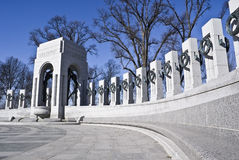 World War II Memorial. Captured at a low angle royalty free stock image