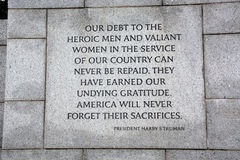 Free World War II Memorial Stock Images - 55618454