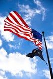 World War II Memorial, american flag at entrance. Washington DC, USA. World War II Memorial, american flag at entrance Washington DC, USA Stock Image