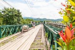 World War II Memorial Bridge in , MAE HONG SON , THAILAND. MAE HONG SON , THAILAND - Oct 3, 2016: World War II Memorial Bridge in Pai was built during World War Stock Photography