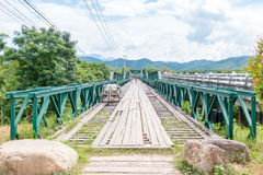 World War II Memorial Bridge in , MAE HONG SON , THAILAND. MAE HONG SON , THAILAND - Oct 3, 2016: World War II Memorial Bridge in Pai was built during World War Royalty Free Stock Photos