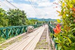 World War II Memorial Bridge in , MAE HONG SON , THAILAND. MAE HONG SON , THAILAND - Oct 3, 2016: World War II Memorial Bridge in Pai was built during World War Stock Image