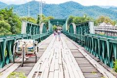World War II Memorial Bridge in , MAE HONG SON , THAILAND. MAE HONG SON , THAILAND - Oct 3, 2016: World War II Memorial Bridge in Pai was built during World War Stock Images