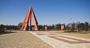 World War II memorial, Chisinau, Moldova. World War II memorial. A beautiful and symbolic place in Kishinev (Chisinau), Moldova. Photo taken on: March 2015 stock photography