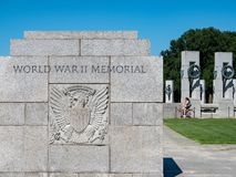 World War II memorial entrance sign royalty free stock photos