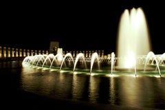 World War II Memorial Fountain. Night Shot of the World War II Memorial Fountain Royalty Free Stock Image