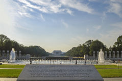 World War II Memorial and Lincoln Memorial on background Royalty Free Stock Image