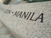 World War II Memorial - Luzon, Manila. From the Pacific side of the World War II Memorial Stock Images