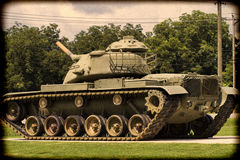 World War II Memorial M60 Army Tank Toned 2 Stock Photography
