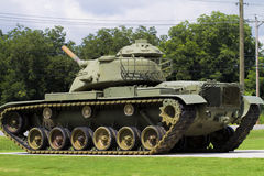 World War II Memorial M60 Army Tank. This is a World War II M60 Army tank at the veterans memorial in Priceville Alabama USA Royalty Free Stock Images