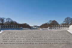 The World War II Memorial at The Mall in DC, USA. The World War II Memorial after a snow blizzard at the Mall in DC, USA Stock Photo