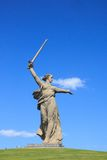 World War II memorial Motherland Calls, Volgograd. Motherland Calls is a statue in Mamayev Kurgan in Volgograd, Russia, commemorating the Battle of Stalingrad of Stock Image