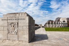 World War II Memorial. The World War II Memorial on the National Mall in Washington DC stock photos