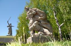 World War II Memorial obelisk on Mamayev Kurgan Stock Images