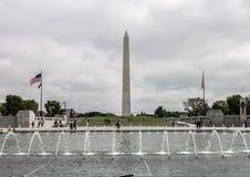 World War II Memorial Obelisk Washington DC Royalty Free Stock Images