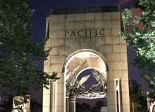 World War II memorial - Pacific. The World War II Memorial, is dedicated to Americans who served in the armed forces and as civilians during World War II. With Stock Photos