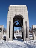 World War II Memorial Portals Stock Photo