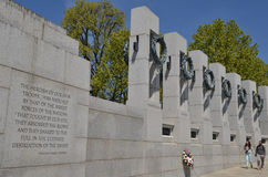 World War II Memorial, Washington DC stock image