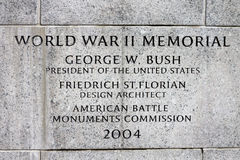 World War II Memorial Washington DC Stock Images