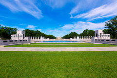 World War II Memorial in washington DC USA. At National Mall Stock Image