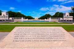 World War II Memorial in washington DC USA. At National Mall Royalty Free Stock Photo