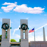 World War II Memorial in washington DC USA. At National Mall Stock Images