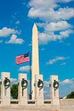 World War II Memorial in washington DC USA. At National Mall Stock Photos