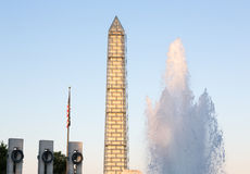World War II memorial Washington Monument DC Stock Images