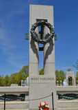 World War II Memorial - West Virginia, Washington DC Stock Images