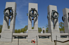 World War II Memorial - West Virginia, Washington DC royalty free stock photo