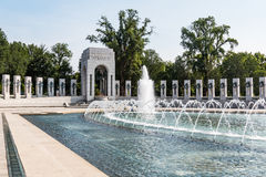 World War II Memorial Which Honors Armed Forces. WASHINGTON, DC - JULY 12, 2017:  The World War II Memorial honors the 16 million who served in the armed forces Stock Photos
