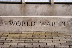 World War II Monument. A war veterans memorial monument in a small town in northeast Ohio USA Stock Photography