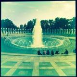 World War II Monument with tourists, Washington, DC Stock Image