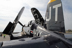 World War II Navy Corsair Fighter Aircraft Stock Photo