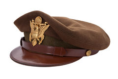 World War II Officers Cap isolated Stock Image