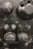 World War II Radio. Knobs and Speaker of a World War II Radio Royalty Free Stock Photo