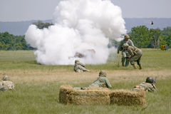 World War II reenactment Stock Photos