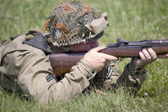 World War II reenactment Stock Image