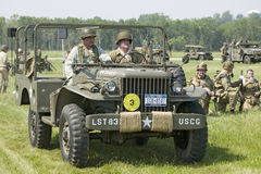 World War II reenactment Stock Photography
