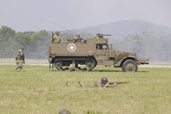 World War II reenactment Royalty Free Stock Images