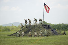 A World War II reenactment of US Marines Stock Photos