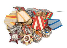 World War II Russian medals Royalty Free Stock Photos
