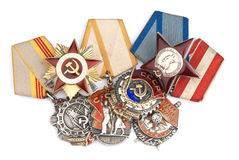 World War II Russian military medals Royalty Free Stock Image