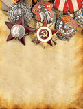 World War II Russian military medals Royalty Free Stock Photography