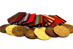 World War II Russian military medals Royalty Free Stock Images